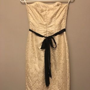 Corey Lynn Calter Strapless Champaign belted dress